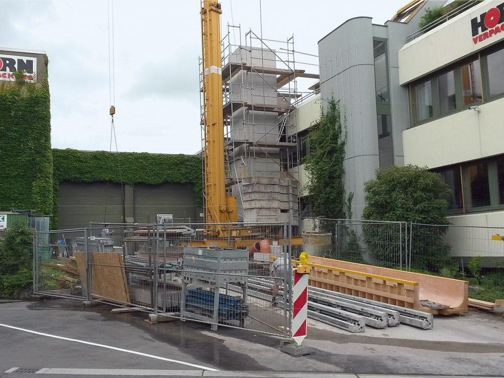 Anbau mit Aufzug - Krämer Bau - Bauen im Bestand